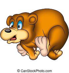 Running bear - Teddy Bear 24 - High detailed and coloured...
