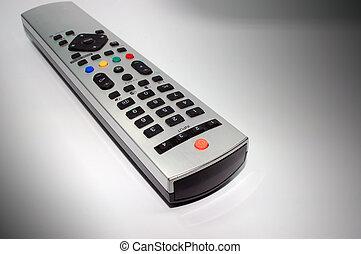 Remote Control - silver remote control made of aluminum