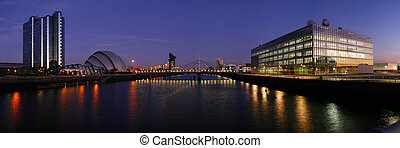 clyde regeneration - The modern skyline of Glasgow\\\'s...