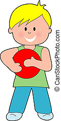 Boy with a Red Ball