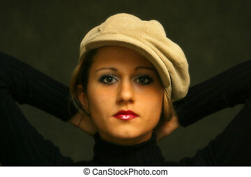 Irina\\\'s portrait - Portrait of the young girl in a...