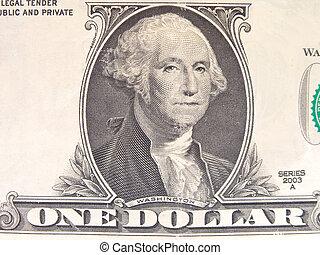 Dollar Bill George Washington close up