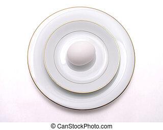 egg on fine china 1
