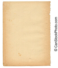 over 50 years old paper page - Over 50 years old paper page,...