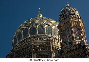 Neue Synagogue is situated in the Scheunenviertel district...