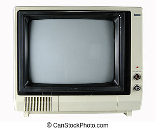 Vintage Television - Vintage television isolated over a...