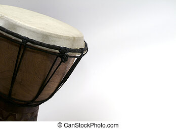 djembe drum with copy space - djembe drum with white copy...