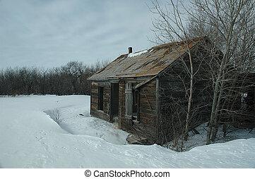 Old Homestead 3 - Abandoned homestead on the Prairies
