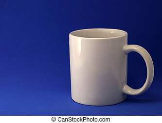 Coffee Mug - Coffee mug on blue background.