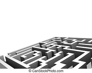 Maze - design component - Portion of a maze, rendered in...