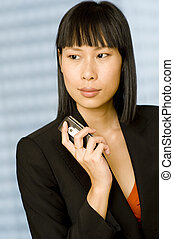 Business Woman - A young attractive businesswoman looking...