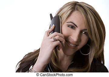 business woman on the phone - beautiful woman wearing...