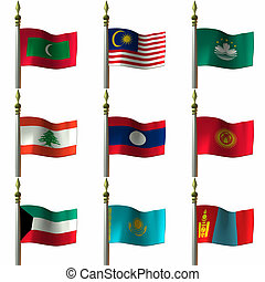 Flags - Asien and Middle Eastern Flags