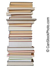 Books - Pile of books on white background