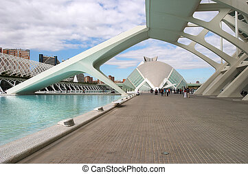 City of Arts and Sciences, we can see the Museu de les...