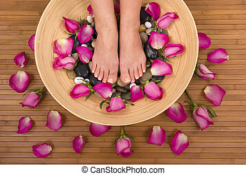 Pedispa - Having spa treatment (pedicure, massage and...