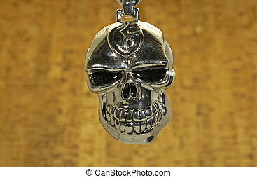 Chrome Skull - Photo of a Chrome Skull on a Chain