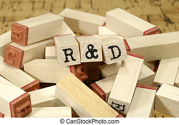 R & DR & D - Photo Letter Stamps - R & D