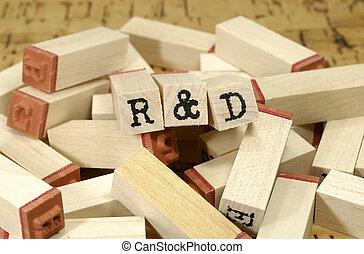 R & DR & D - Photo Letter Stamps - R & D