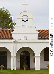 Bell Tower - a bell tower in the courtyard of San Luis Rey...