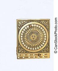 Bronze calendar 602 - An calendar made from bronze, standing...