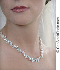 Bride Detail - detail of a bride\\\'s partial face and...