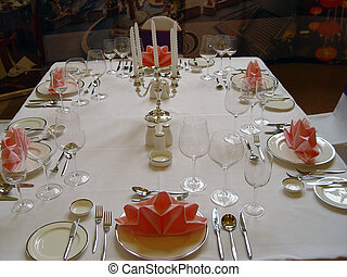 BANQUET TABLE  - Banquet table setting for wedding