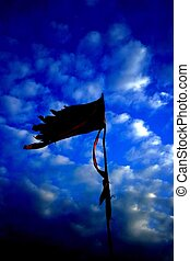 Pirate flag - a beautiful pirate flag with a stunning cloud