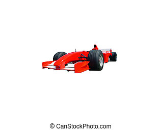 Indy Car - This is a red and white Indianapolis 500 race car...