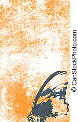 Orange Tattoo paper - paper with design