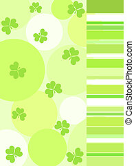 Shamrock and stripes - Green shamrock and stripes