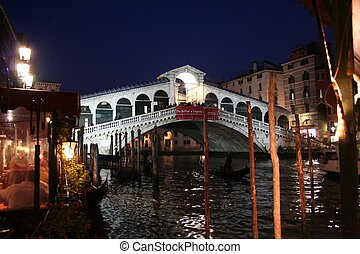 Rialto Bridge - Venice by night