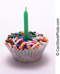 vela, asperja, verde,  Cupcake