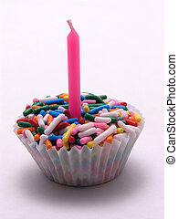 asperja, Cupcake, rosa, vela