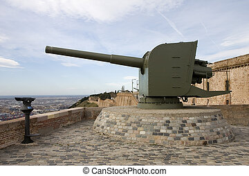 Cannon in Barcelona