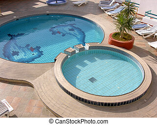 water pool in hotel