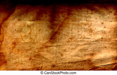 Distressed Brown - Distressed brown paper with wrinkled and...