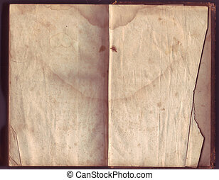 Blank Old Open Book
