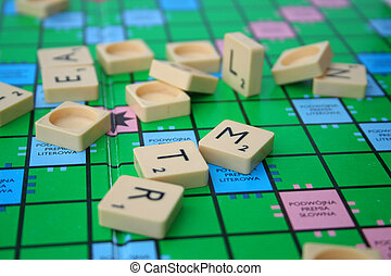 mess on the scrabble board - picture of mess on the scrabble...