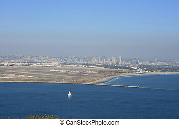 Point Loma - The view of Downtown San Diego from Point Loma.