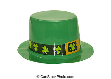 Green Hat - Photo of a Green Shamrock Hat - St. Patricks Day...