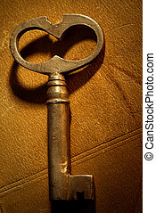 magic key - old key on the book,special photo f/x,focus on...