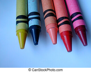 Crayon points - Detail of crayon colours