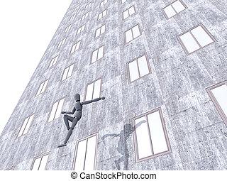 Suicide - 3D rendered Illustration.