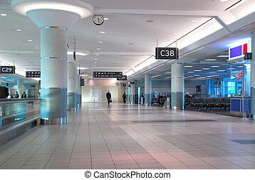 Airport interior - Interior of gates at modern internation...