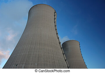 cooling towers of an atomic power plant