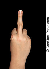 middle finger - showing middle finger as taboo sign