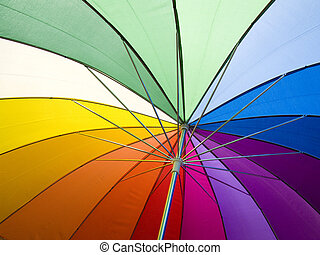 Colors - An open umbrella to show the colors of light