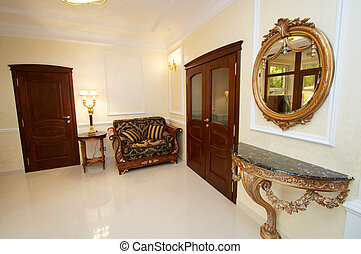 room with a mirror
