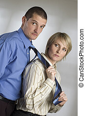 couple - young business couple - leadership concept portrait